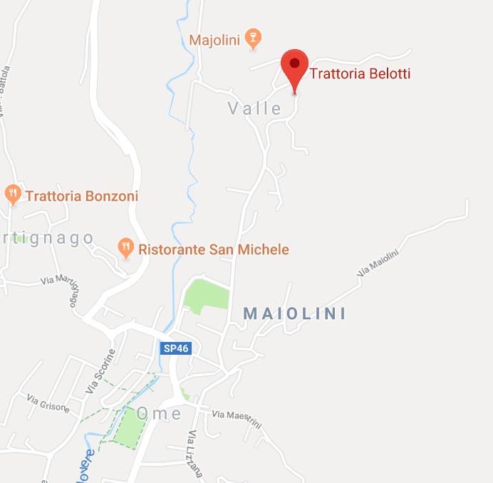 mappa trattoria belotti con link a google maps